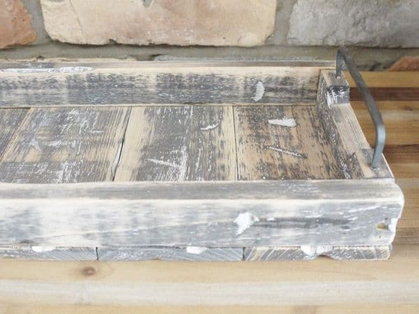 Rustic Wooden Display Tray